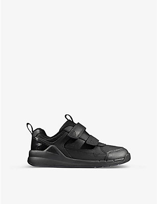 CLARKS: Orbit Sprint leather trainers 5-8 years