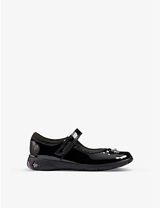 CLARKS: Sea Shimmer leather shoes 5-8 years