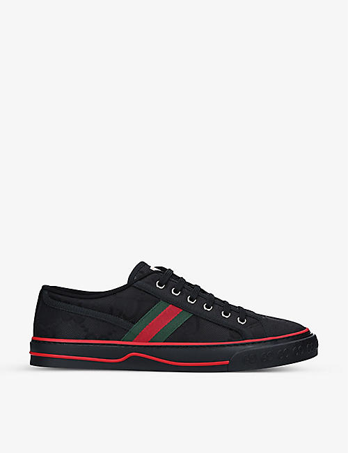 GUCCI: Men's Tennis 1977 canvas low-top trainers