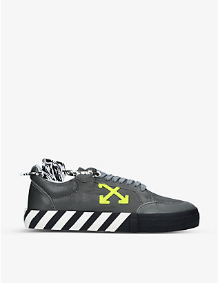 OFF-WHITE C/O VIRGIL ABLOH: Vulcanized leather low-top trainers