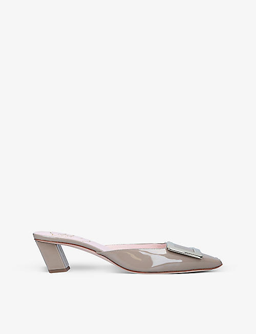 ROGER VIVIER: Belle Vivier patent-leather mules