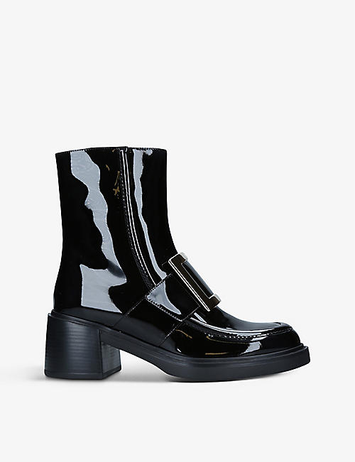 ROGER VIVIER: Viv' Rangers patent-leather heeled ankle boots