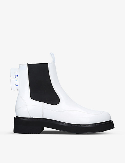 OFF-WHITE C/O VIRGIL ABLOH: Tag-detail leather Chelsea boots