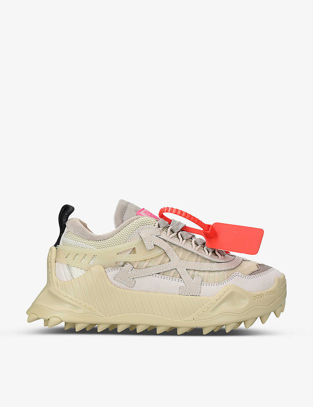OFF-WHITE C/O VIRGIL ABLOH: ODSY-1000 leather trainers