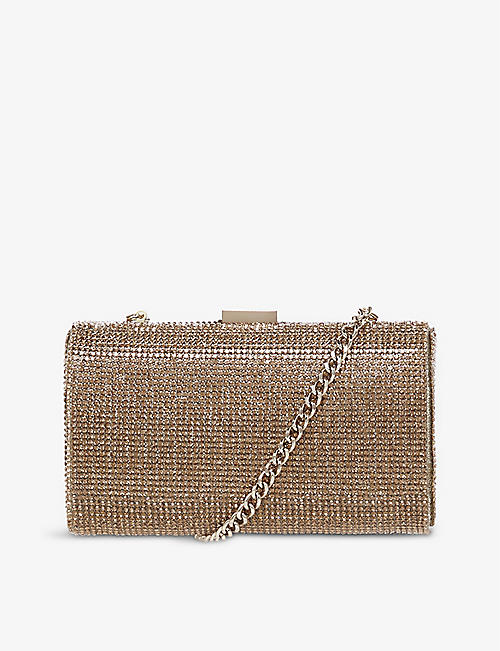 DUNE: Bryannie crystal-embellished clutch bag