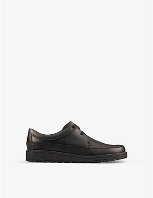 CLARKS: Mendip Weaver leather shoes 9-12 years