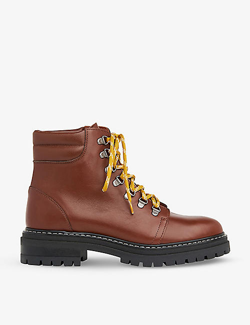 WHISTLES: Amber lace up leather hiking boots