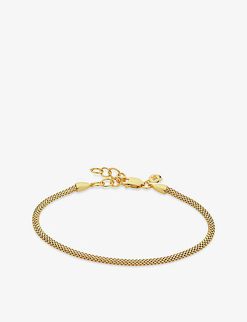 MONICA VINADER: Doina 18ct yellow-gold vermeil sterling silver bracelet