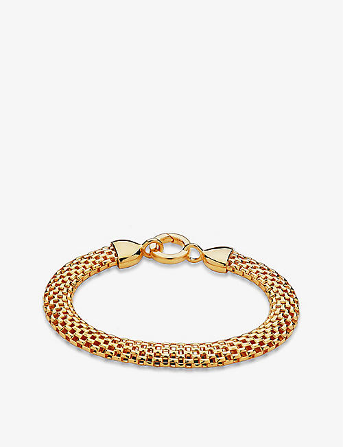MONICA VINADER: Doina 18ct gold vermeil sterling silver bracelet