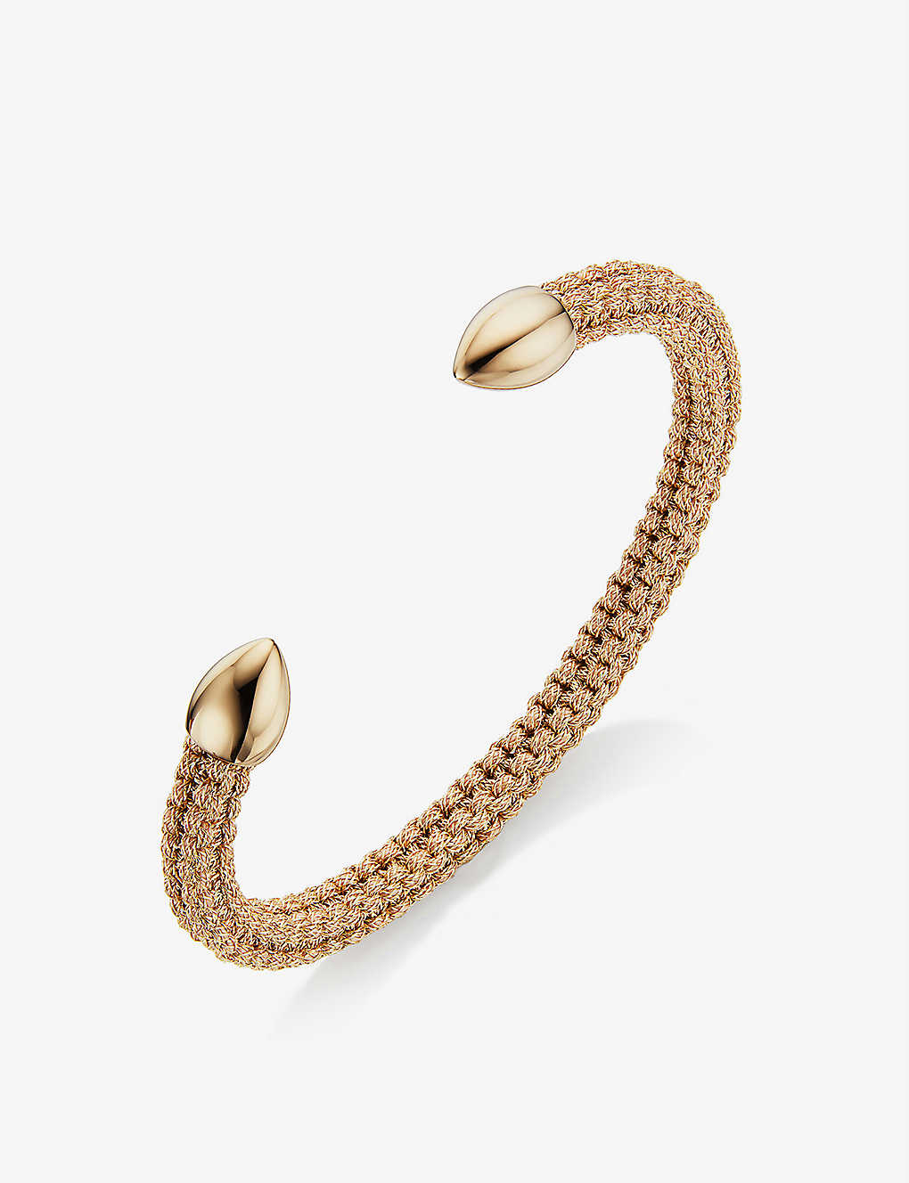 MONICA VINADER: Fiji Bud 18ct yellow gold-vermeil cuff bracelet