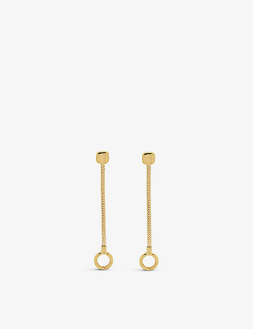 MONICA VINADER: Doina 18ct yellow-gold vermeil earrings