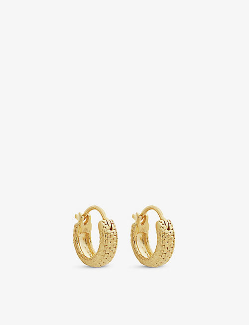 MONICA VINADER: Doina 18ct yellow-gold vermeil huggie earrings