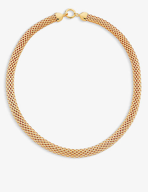 MONICA VINADER: Doina 18ct gold vermeil sterling silver necklace