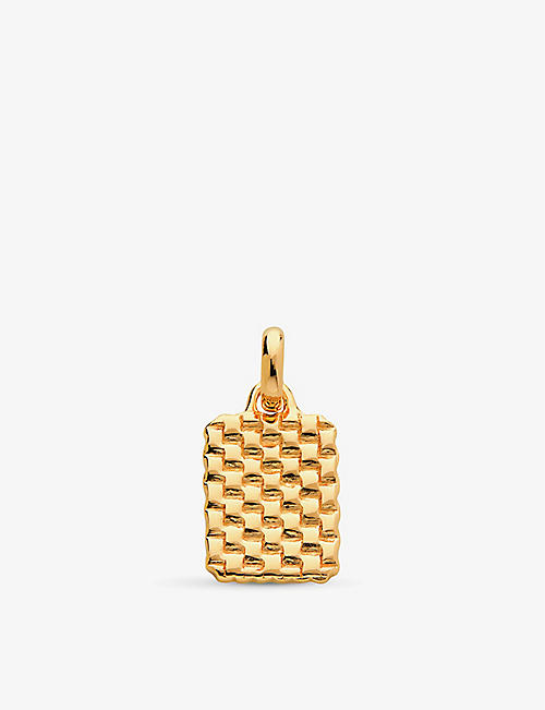 MONICA VINADER: Doina 18ct yellow-gold vermeil sterling silver pendant