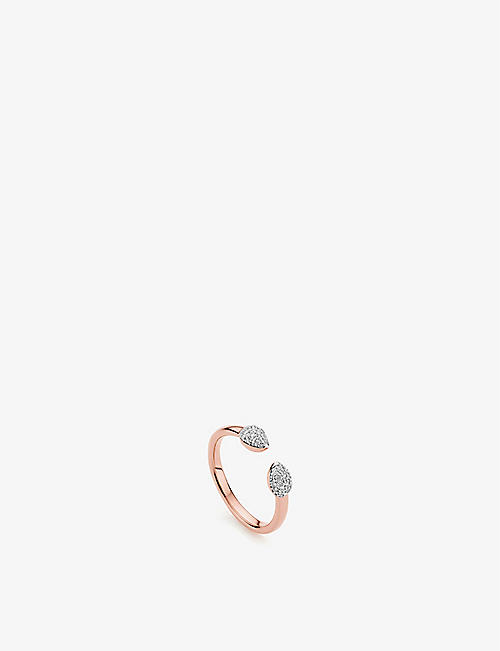 MONICA VINADER: Fiji Bud 18ct rose-gold vermeil and diamond ring