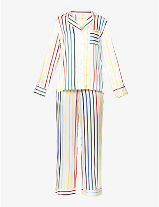 CHINTI AND PARKER: Classic stripe silk pyjama set