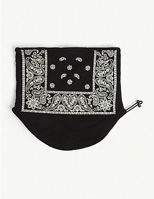 PROFOUND AESTHETIC: Bandana-print cotton half-face face covering