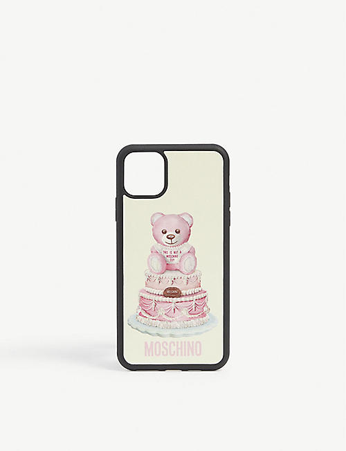 MOSCHINO: Teddy bear iPhone 10 max case