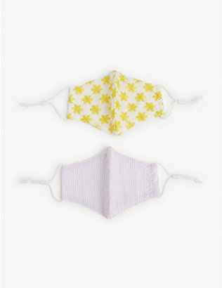 LELE SADOUGHI: Kids woven face coverings set of two