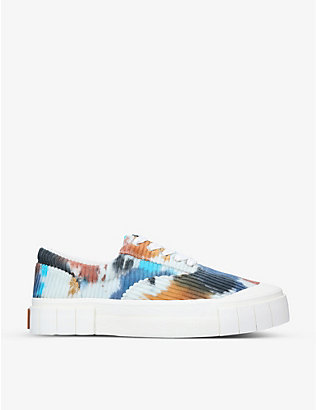 GOOD NEWS: Opal tie-dye organic cotton-corduroy trainers
