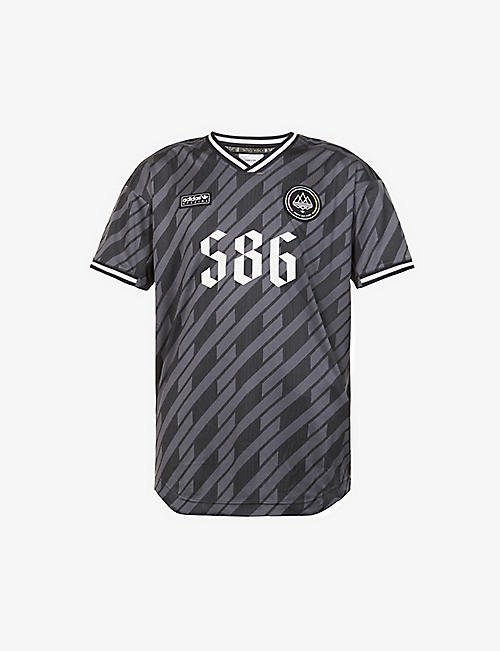 ADIDAS STATEMENT: SPEZIAL graphic-print recycled polyester-blend T-shirt