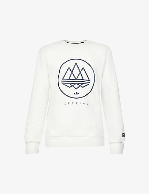 ADIDAS STATEMENT: SPEZIAL graphic-print cotton-jersey sweatshirt