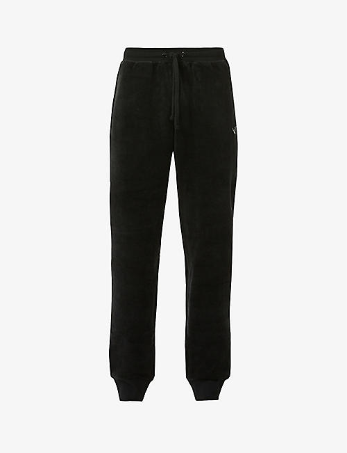 EMPORIO ARMANI: Chenille relaxed-fit cotton-blend jogging bottoms