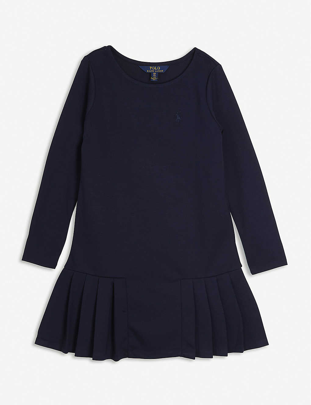 RALPH LAUREN: Logo-embroidered crewneck ponte dress 3-14 years