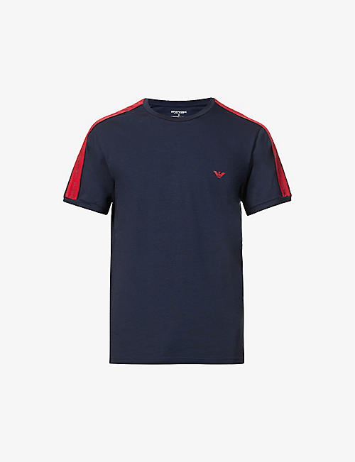 EMPORIO ARMANI: Logo-tape cotton-jersey T-shirt