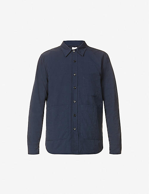 ASPESI: Check-lined shell overshirt