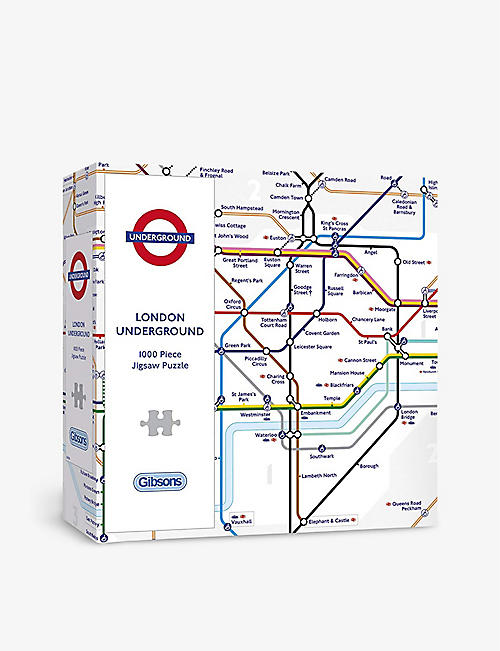 PUZZLES: Gibsons TFL London Underground Map 1000-piece jigsaw puzzle