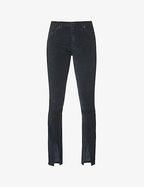 3X1: Kaia skinny high-rise stretch-cotton velvet jeans