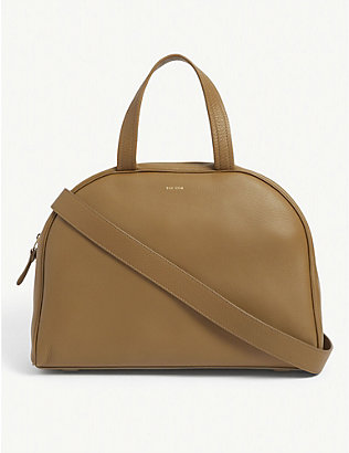 THE ROW: Bowling leather top handle bag