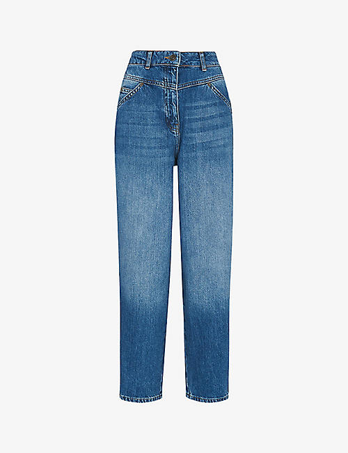WHISTLES: Perfect straight-leg high-rise jeans