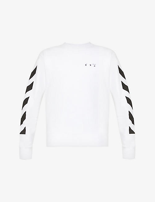 OFF-WHITE C/O VIRGIL ABLOH: Graphic-print cotton-jersey sweatshirt