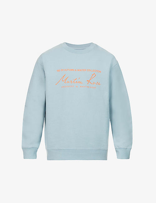 MARTINE ROSE: Mr Classic brand-print cotton-jersey sweatshirt