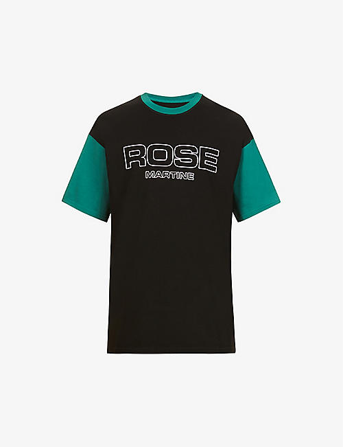 MARTINE ROSE: Mr Boss graphic-print cotton-jersey T-shirt