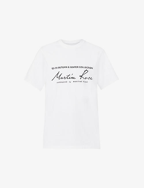 MARTINE ROSE: Mr Classic brand-print cotton-jersey T-shirt