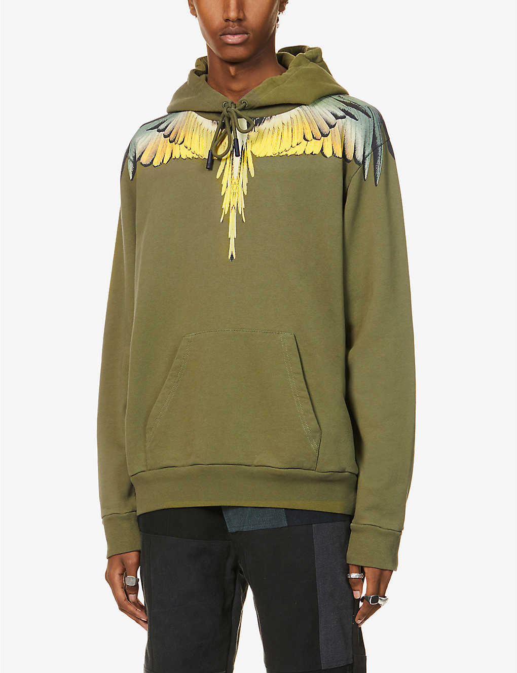 MARCELO BURLON: Wings graphic-print cotton-jersey hoody