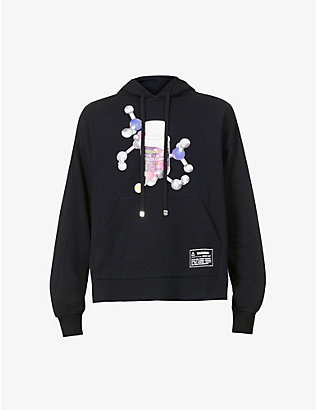 PRIVATE POLICY: Graphic-print cotton-jersey hoody