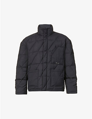 PRIVATE POLICY: Padded quilted shell-down jacket