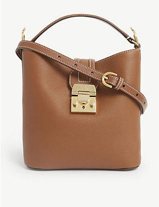 MARK CROSS: Murphy small leather bucket bag