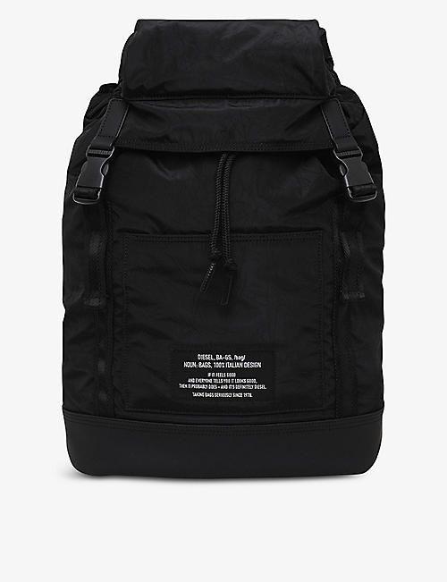 DIESEL: F-Suse padded shell backpack
