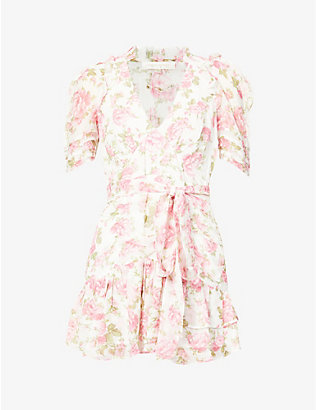 LOVESHACKFANCY: Arlo silk mini dress