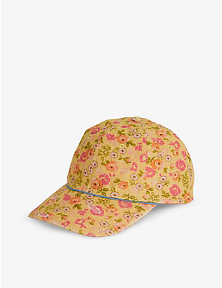 LOVESHACKFANCY: Therese floral-print linen baseball cap