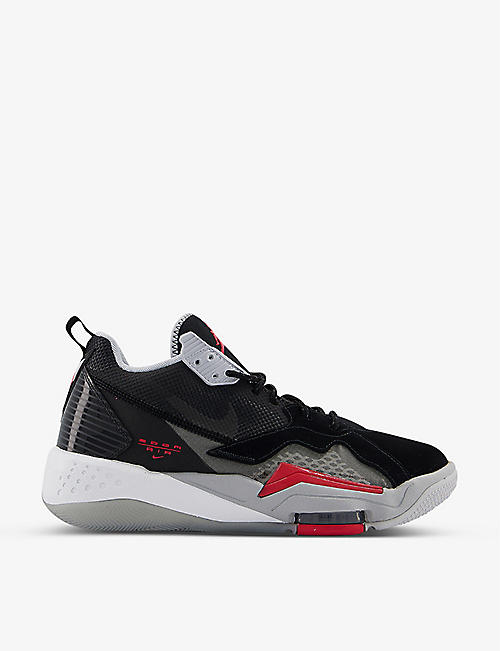 JORDAN: Jordan Zoom '92 leather and textile trainers