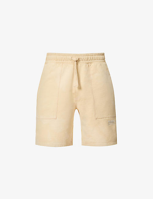 PUMA: Logo-embroidered cotton-jersey shorts
