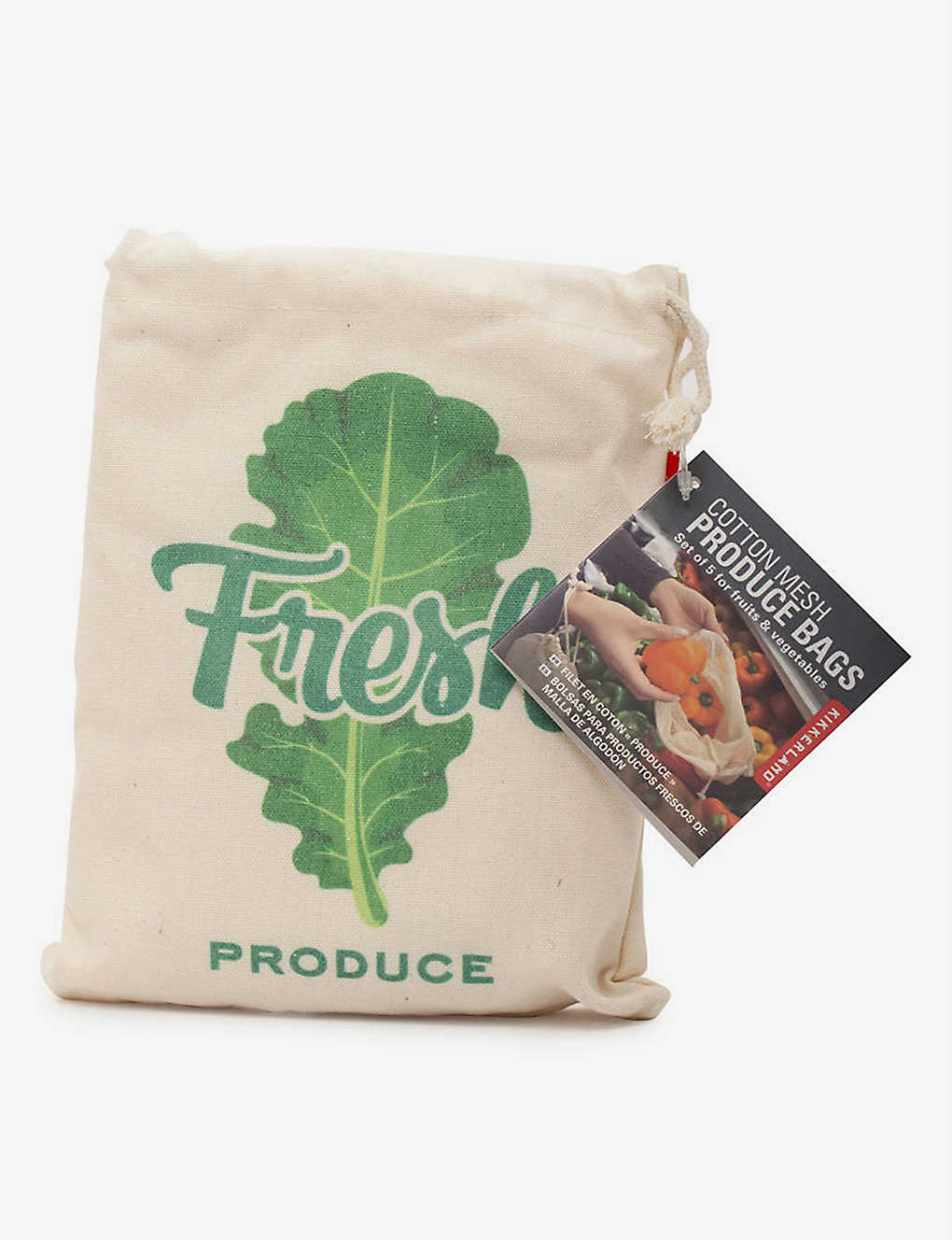 KIKKERLAND: Cotton-blend produce bags pack of 5