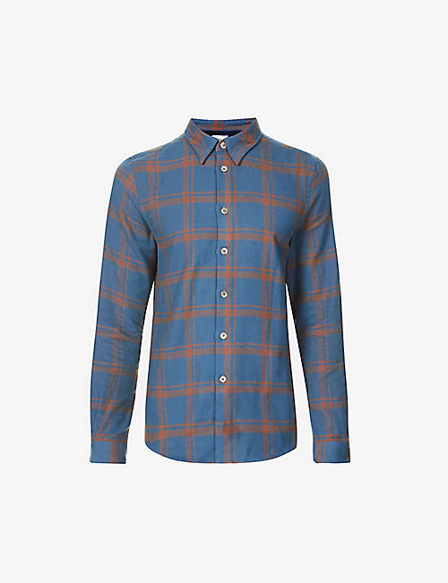 PS BY PAUL SMITH: Tailored fit check cotton shirt