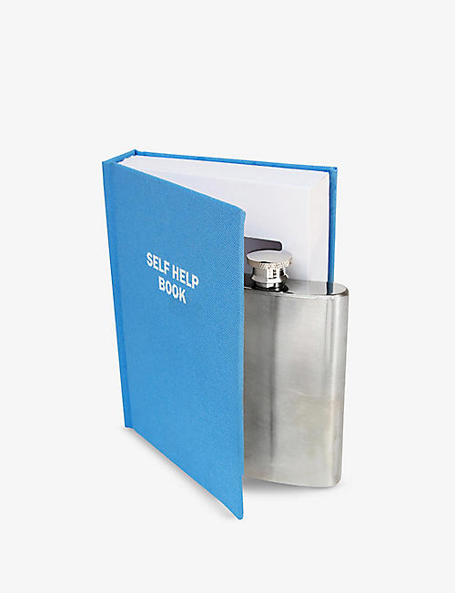 SUCK UK: Self Help Flask in a Book gift